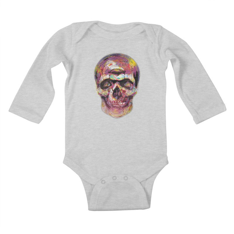 Sharped skull Kids Baby Longsleeve Bodysuit by re3a's Artist Shop