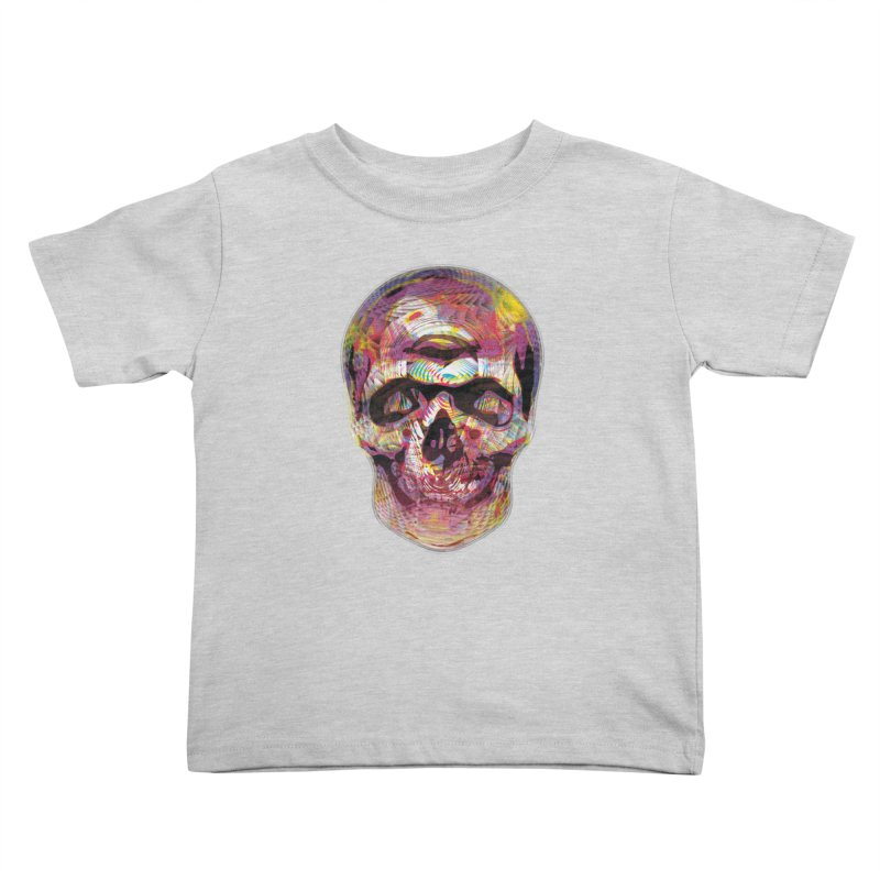 Sharped skull Kids Toddler T-Shirt by re3a's Artist Shop