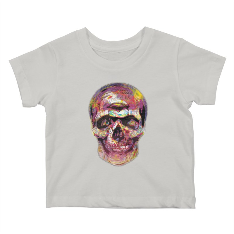 Sharped skull Kids Baby T-Shirt by re3a's Artist Shop