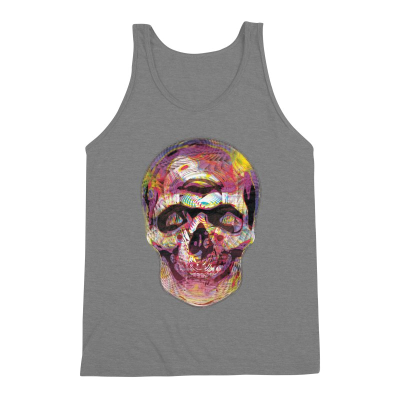 Sharped skull Men's Triblend Tank by re3a's Artist Shop