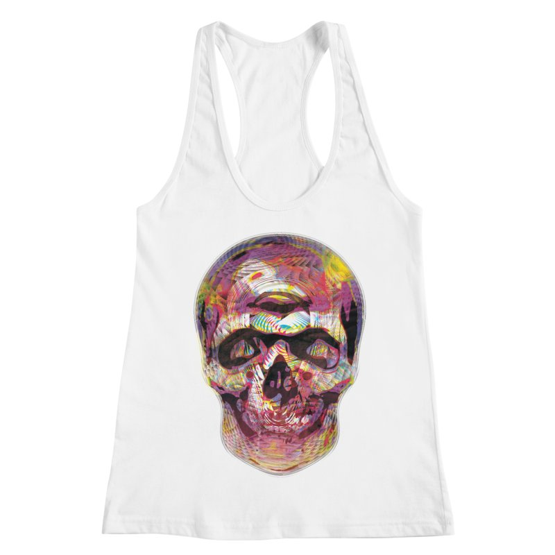 Sharped skull Women's Racerback Tank by re3a's Artist Shop
