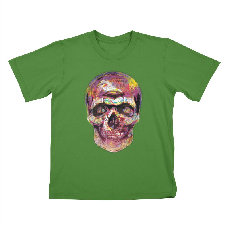 Sharped skull Kids T-Shirt by re3a's Artist Shop