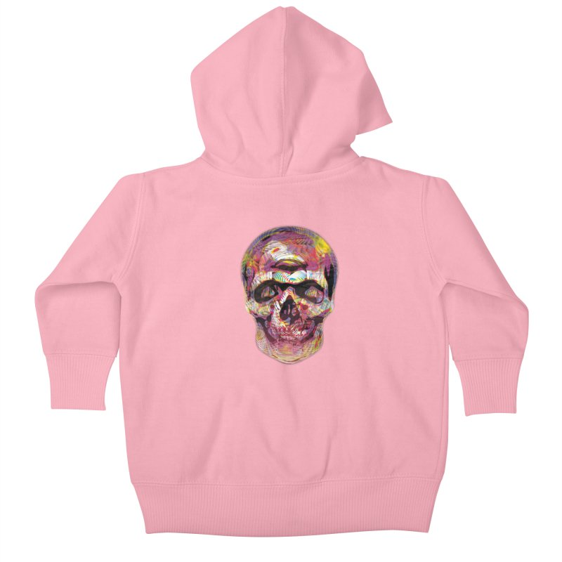 Sharped skull Kids Baby Zip-Up Hoody by re3a's Artist Shop