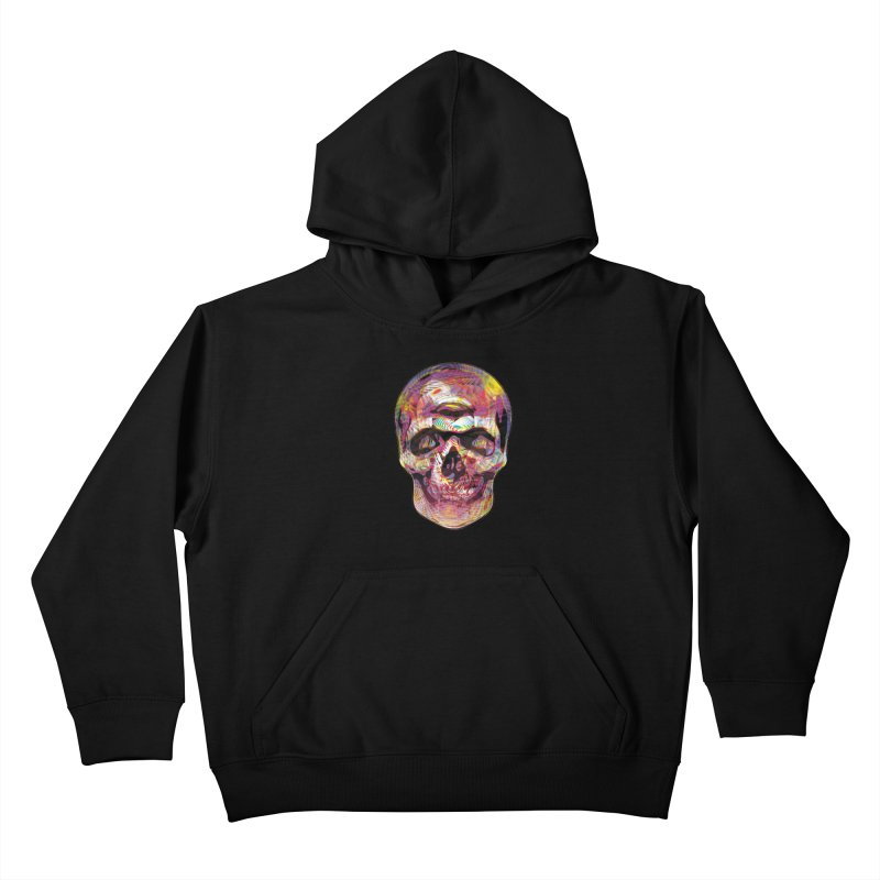 Sharped skull Kids Pullover Hoody by re3a's Artist Shop