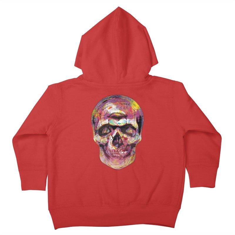 Sharped skull Kids Toddler Zip-Up Hoody by re3a's Artist Shop