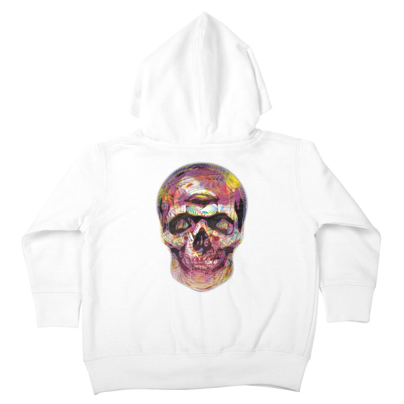 Sharped skull Kids Toddler Zip-Up Hoody by re3a's Artist Shop