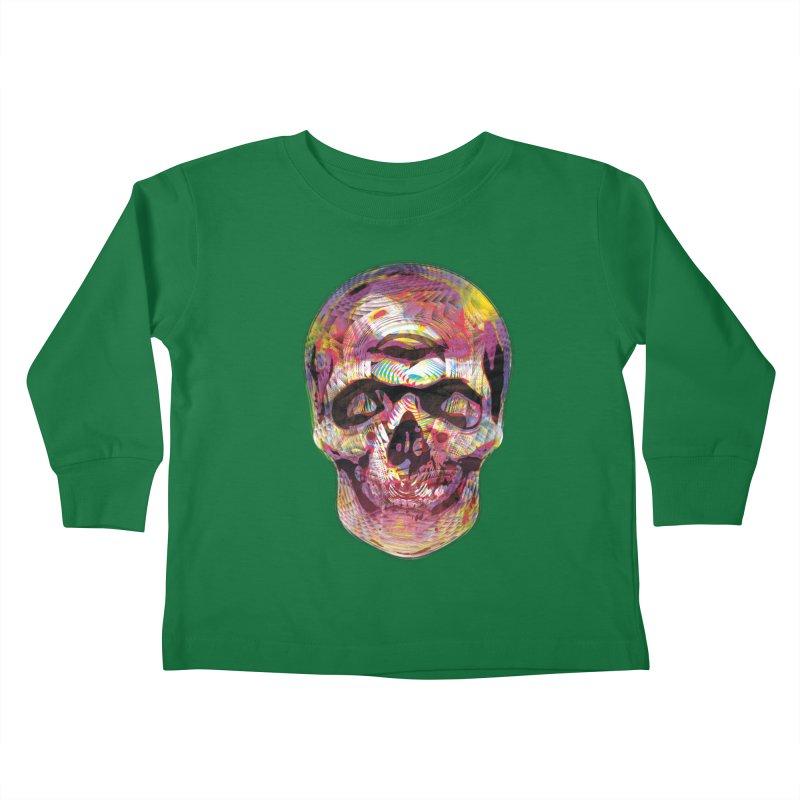 Sharped skull Kids Toddler Longsleeve T-Shirt by re3a's Artist Shop