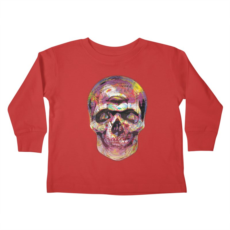 Sharped skull Kids Toddler Longsleeve T-Shirt by re3a's Artist Shop