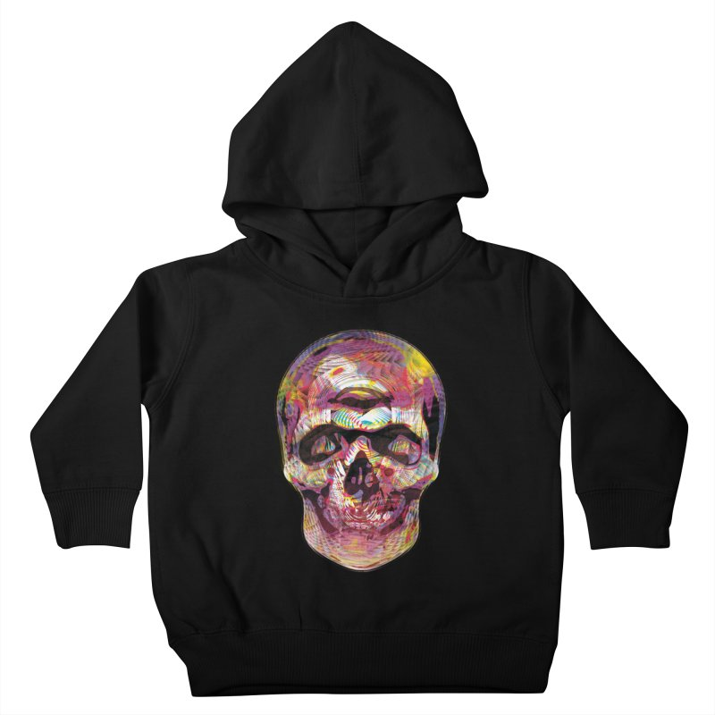 Sharped skull Kids Toddler Pullover Hoody by re3a's Artist Shop