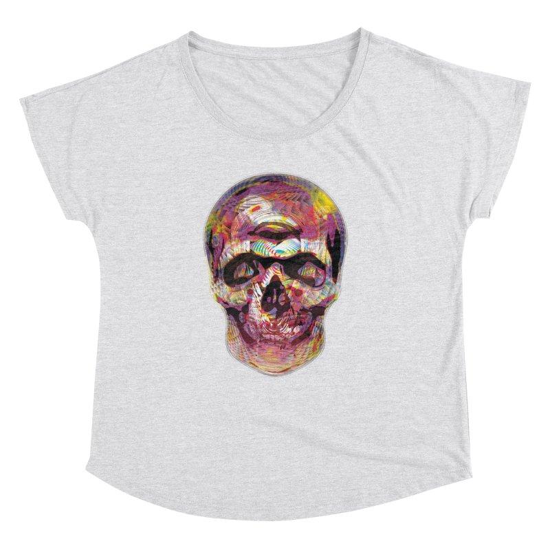 Sharped skull Women's Dolman Scoop Neck by re3a's Artist Shop