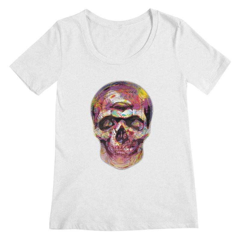 Sharped skull Women's Scoopneck by re3a's Artist Shop