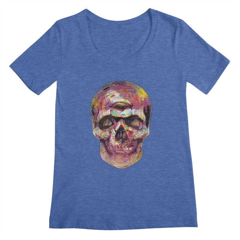 Sharped skull Women's Regular Scoop Neck by re3a's Artist Shop