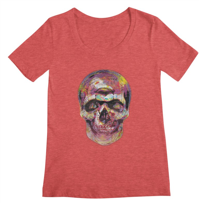Sharped skull Women's Scoopneck by re3a's Artist Shop