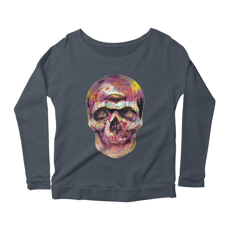 Sharped skull Women's Scoop Neck Longsleeve T-Shirt by re3a's Artist Shop