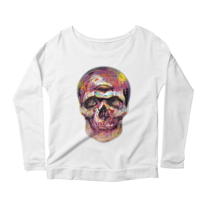 Sharped skull Women's Longsleeve Scoopneck  by re3a's Artist Shop