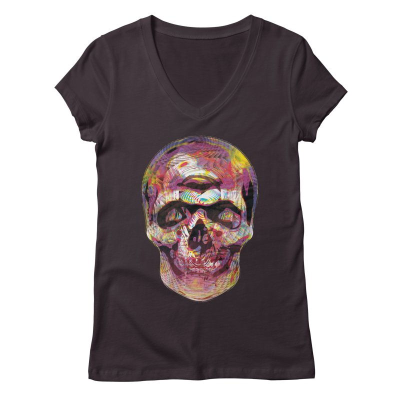 Sharped skull Women's V-Neck by re3a's Artist Shop