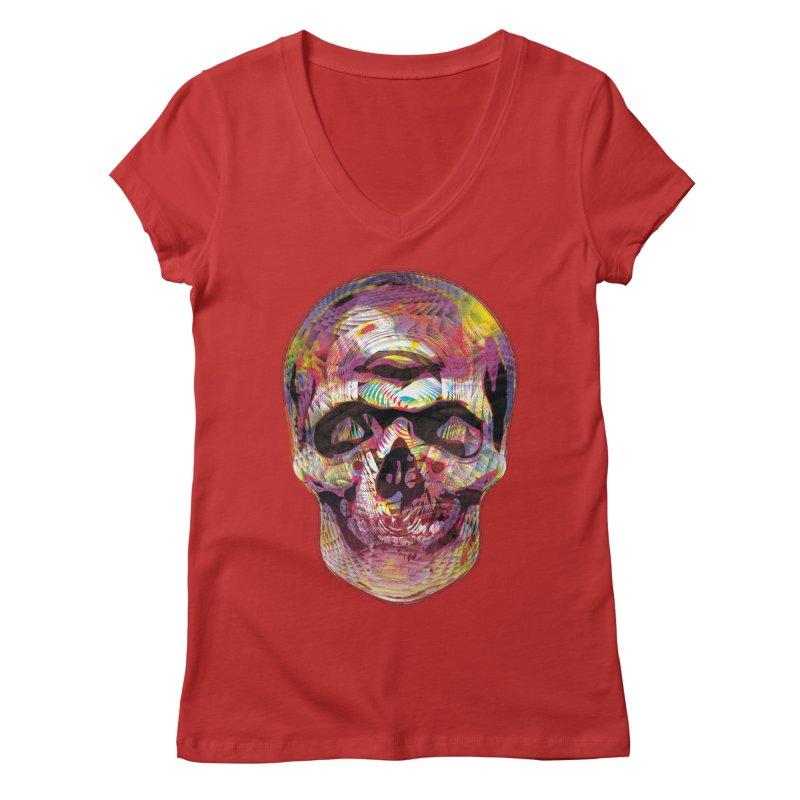Sharped skull Women's Regular V-Neck by re3a's Artist Shop