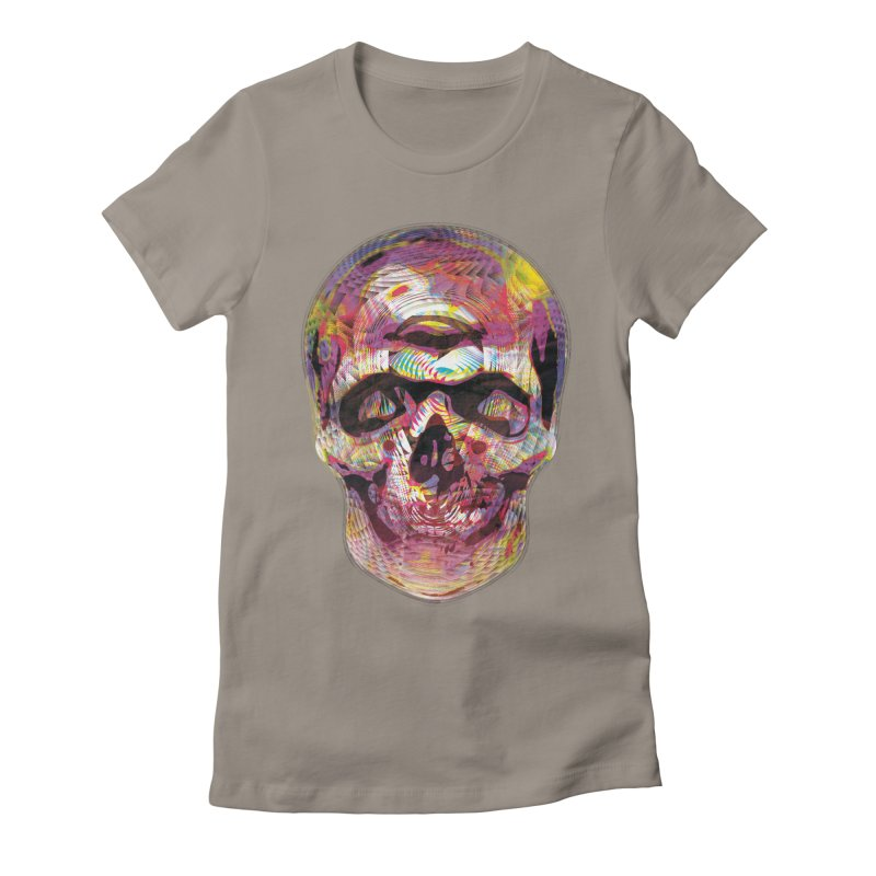 Sharped skull Women's Fitted T-Shirt by re3a's Artist Shop