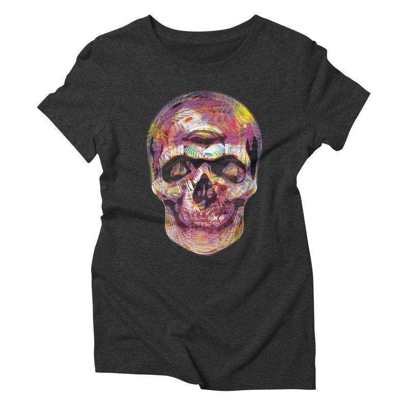 Sharped skull Women's Triblend T-Shirt by re3a's Artist Shop