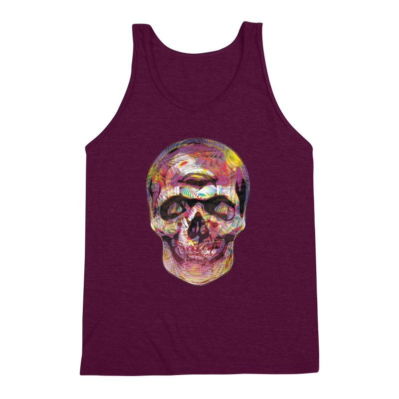 Sharped skull Men's Triblend Tank by re3a's Artist Shop