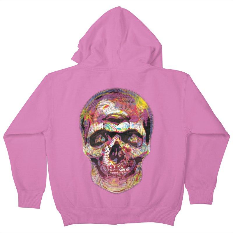 Sharped skull Kids Zip-Up Hoody by re3a's Artist Shop