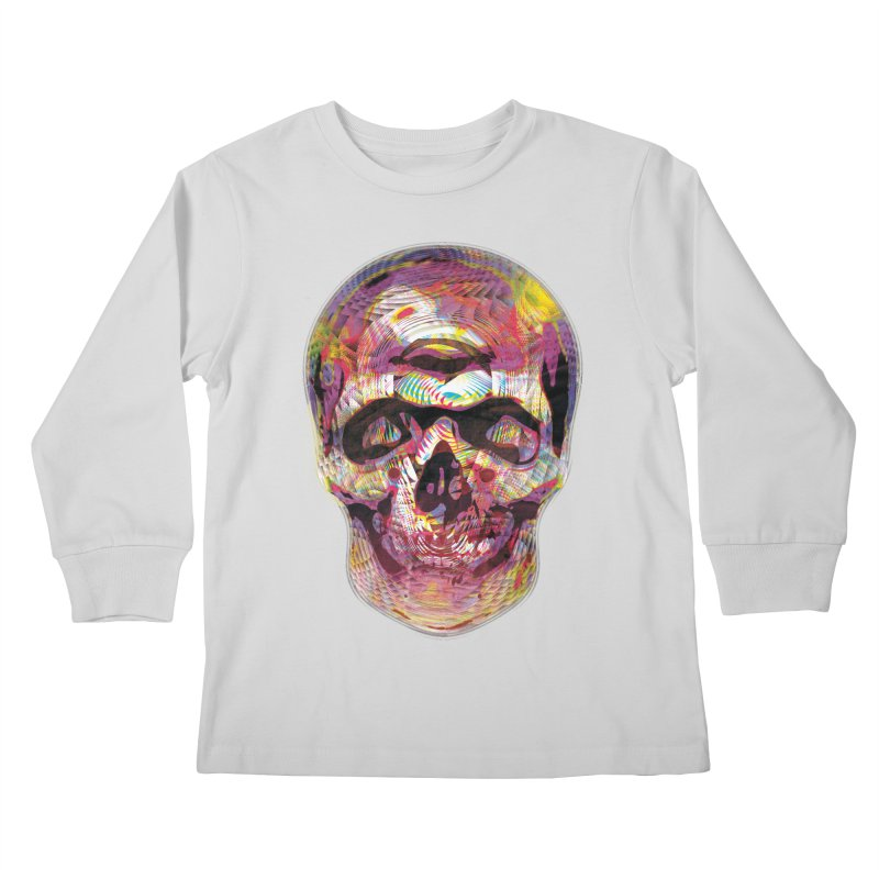 Sharped skull Kids Longsleeve T-Shirt by re3a's Artist Shop