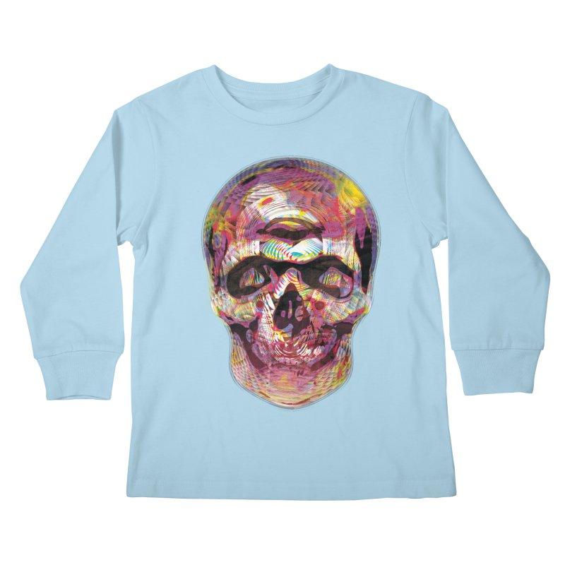 Sharped skull Kids Longsleeve T-Shirt by re3a's Artist Shop