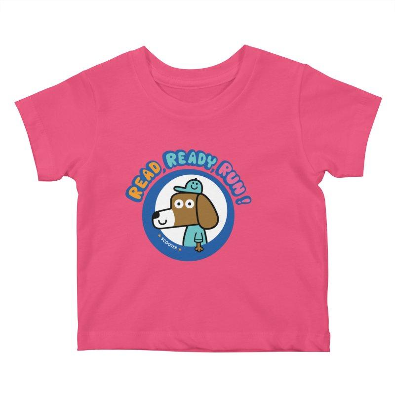 Read Ready Run Kids Baby T-Shirt by readreadyrun's Artist Shop
