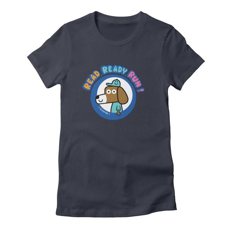 Read Ready Run Women's Fitted T-Shirt by readreadyrun's Artist Shop