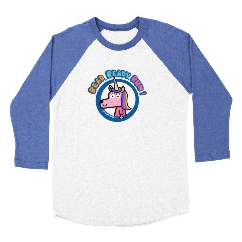 Wildflower Women's Baseball Triblend Longsleeve T-Shirt by readreadyrun's Artist Shop