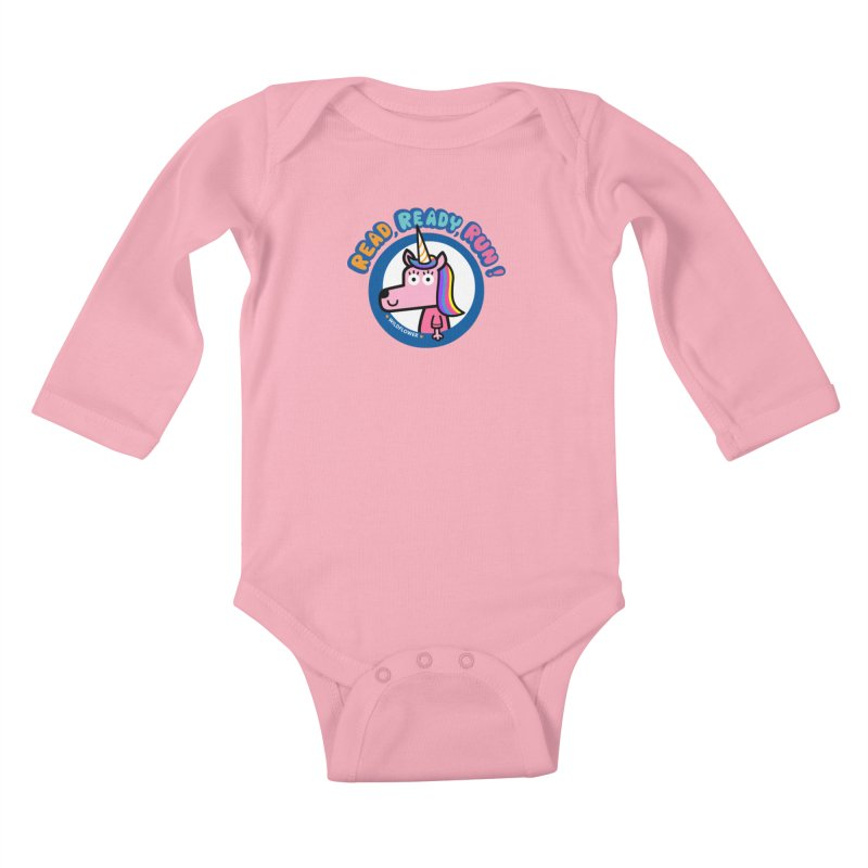 Wildflower Kids Baby Longsleeve Bodysuit by readreadyrun's Artist Shop