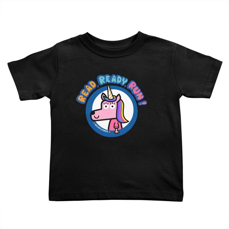 Wildflower Kids Toddler T-Shirt by readreadyrun's Artist Shop