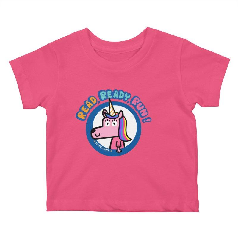 Wildflower Kids Baby T-Shirt by readreadyrun's Artist Shop