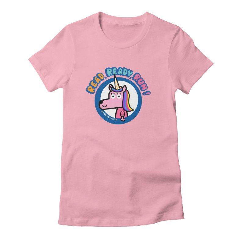 Wildflower Women's Fitted T-Shirt by readreadyrun's Artist Shop