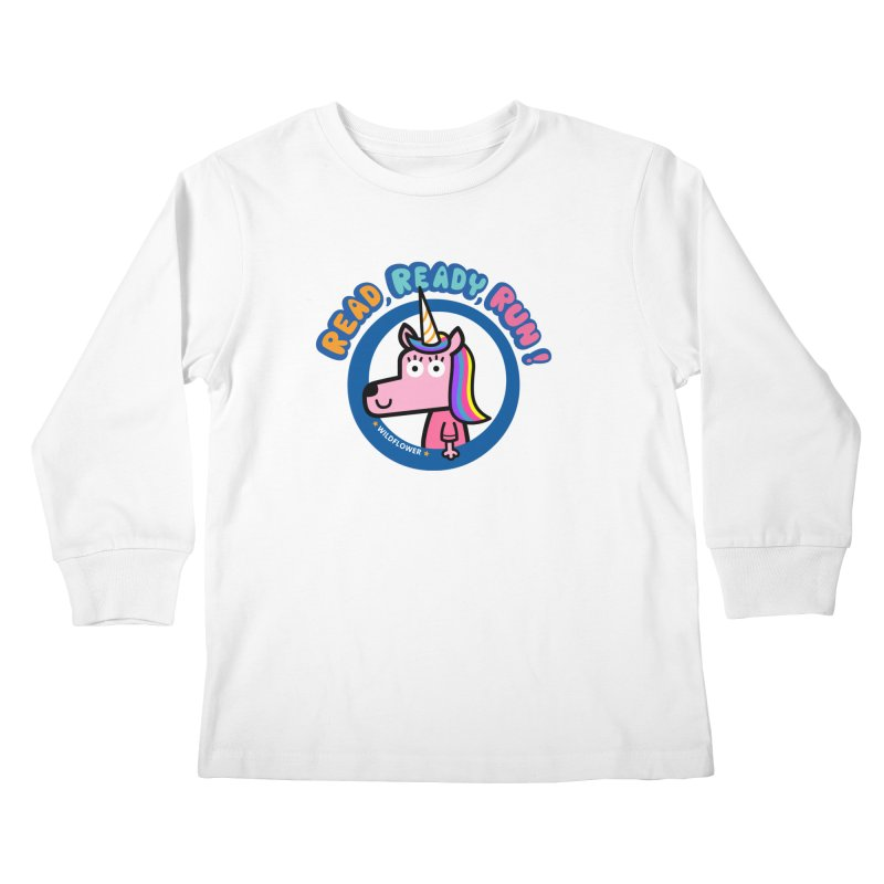 Wildflower Kids Longsleeve T-Shirt by readreadyrun's Artist Shop