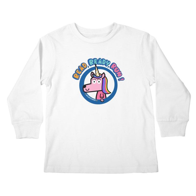 Wildflower Kids Longsleeve T-Shirt by readreadyrun's Artist Shop