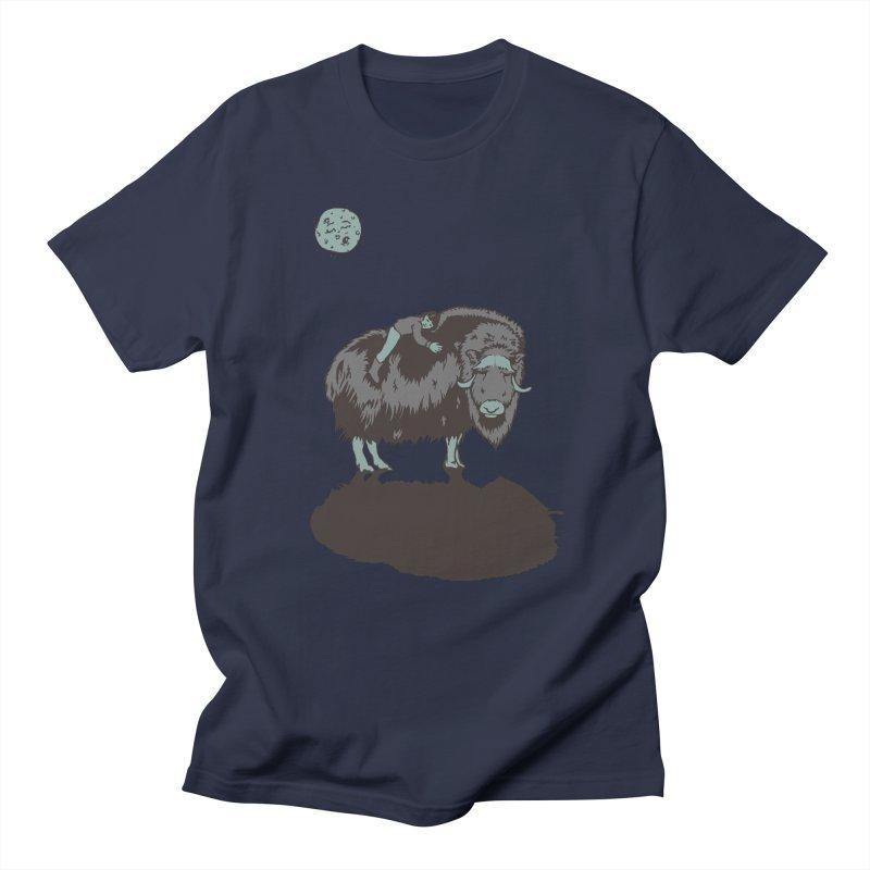 Muskox by Moonlight Men's T-Shirt by readyyetiart's Artist Shop