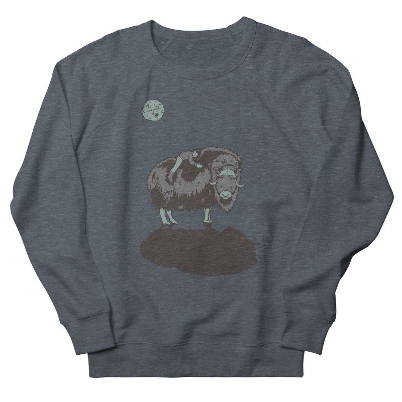 Muskox by Moonlight Men's Sweatshirt by readyyetiart's Artist Shop