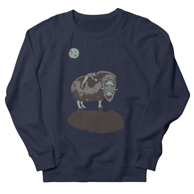 Muskox by Moonlight Men's Sweatshirt by readyyetiart's Artist Shop