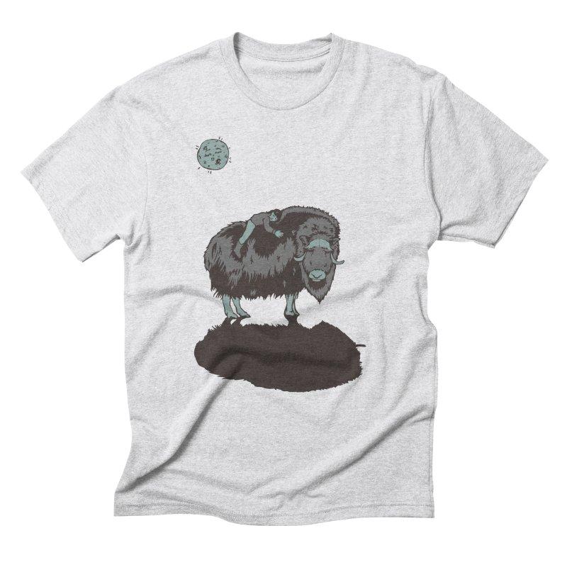 Muskox by Moonlight Men's Triblend T-Shirt by readyyetiart's Artist Shop