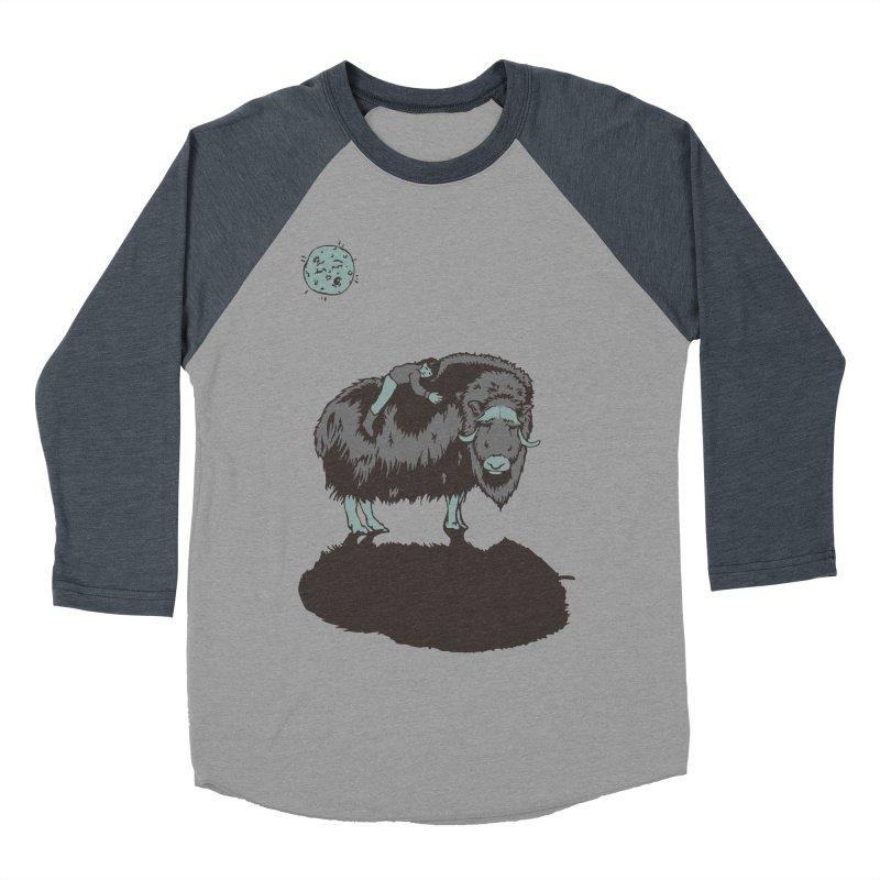 Muskox by Moonlight Men's Baseball Triblend T-Shirt by readyyetiart's Artist Shop