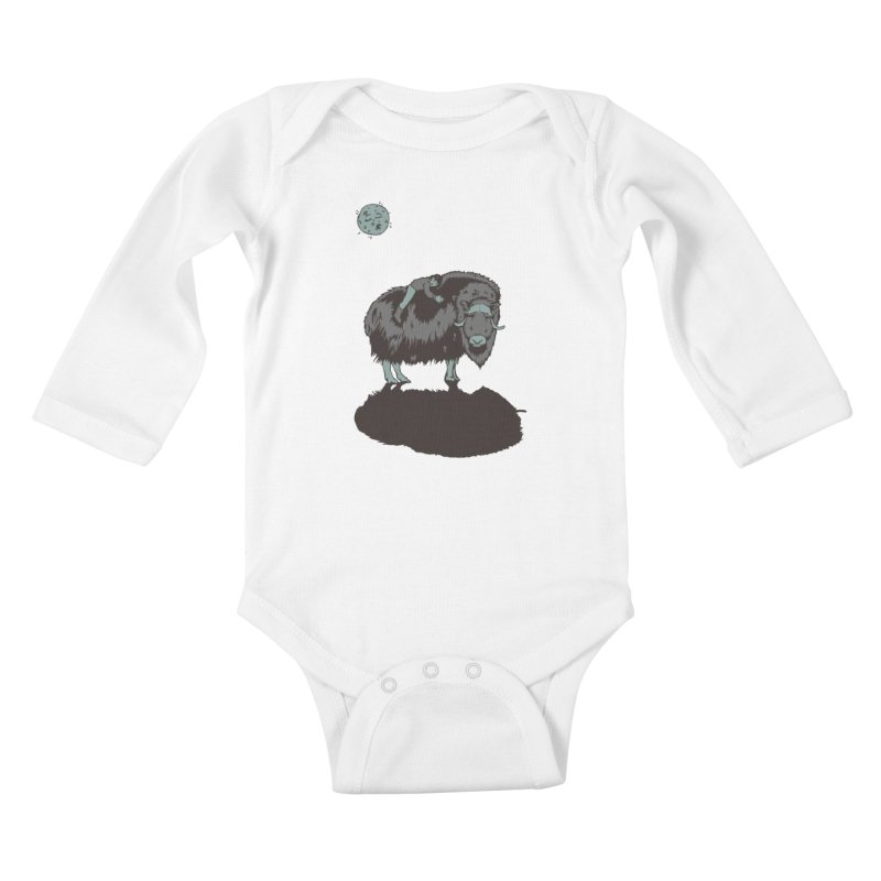 Muskox by Moonlight Kids Baby Longsleeve Bodysuit by readyyetiart's Artist Shop