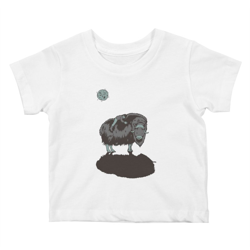 Muskox by Moonlight Kids Baby T-Shirt by readyyetiart's Artist Shop