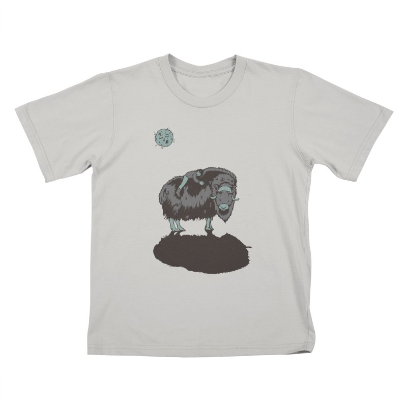Muskox by Moonlight Kids T-Shirt by readyyetiart's Artist Shop