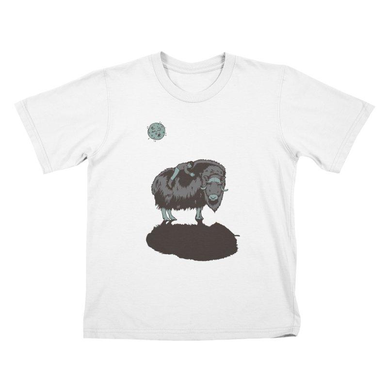 Muskox by Moonlight Kids T-Shirt by readyyetiart's Artist Shop