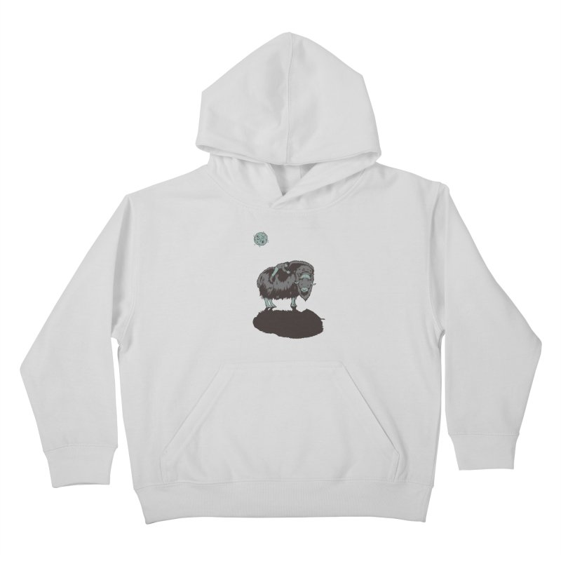Muskox by Moonlight Kids Pullover Hoody by readyyetiart's Artist Shop