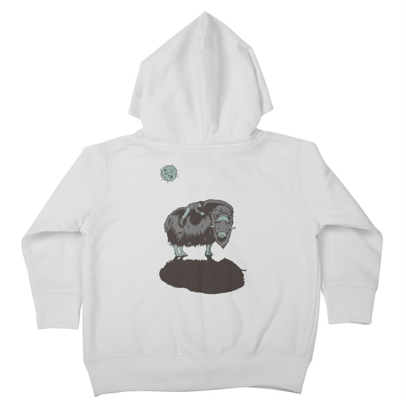 Muskox by Moonlight Kids Toddler Zip-Up Hoody by readyyetiart's Artist Shop