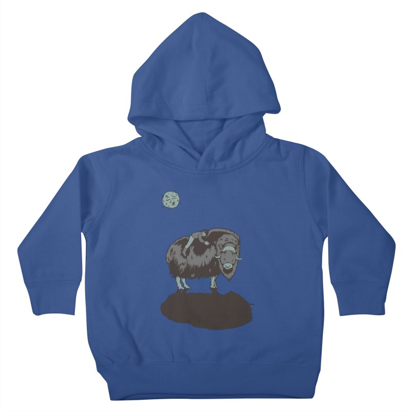 Muskox by Moonlight Kids Toddler Pullover Hoody by readyyetiart's Artist Shop