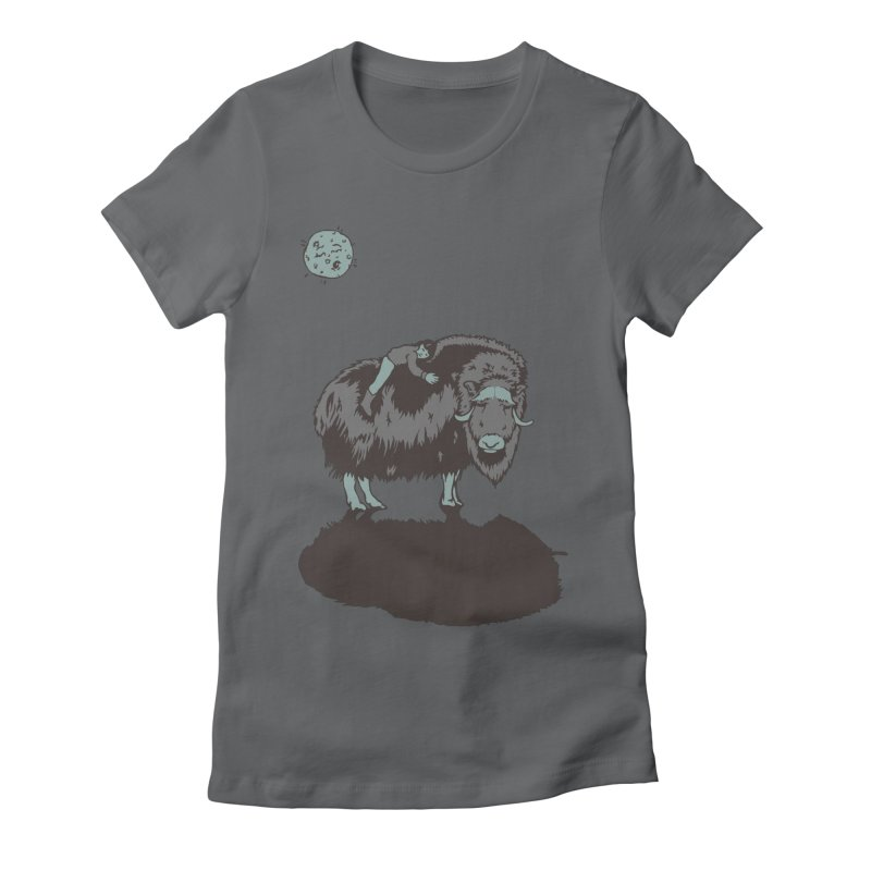 Muskox by Moonlight Women's Fitted T-Shirt by readyyetiart's Artist Shop