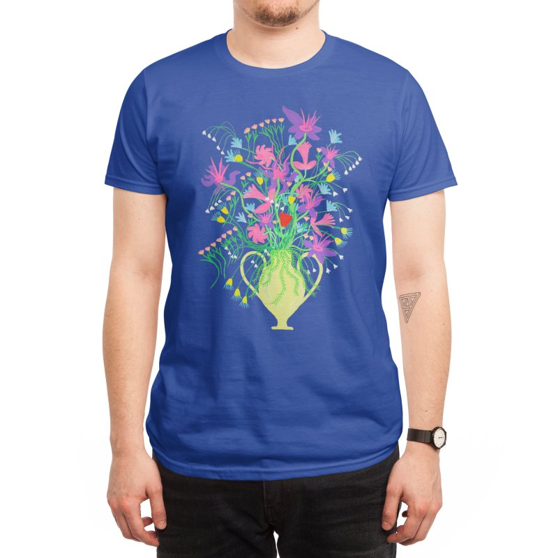 Yellow Vase Men's T-Shirt by Real Dominic Artwork